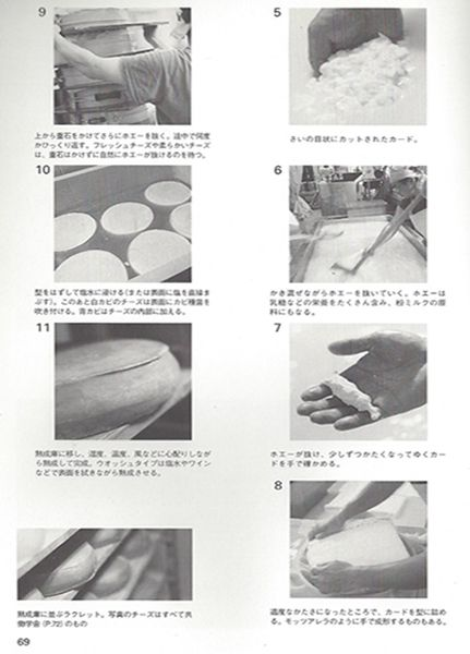 69th page of the Japanese cheeses book